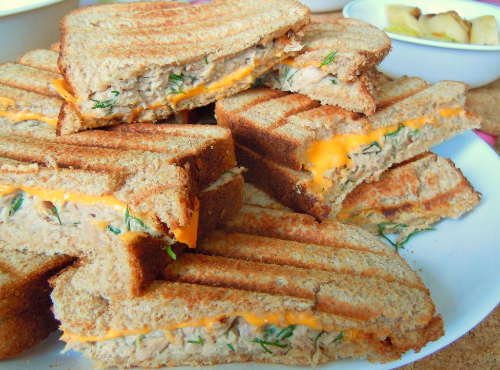 Grilled Tuna Dill Cheese Melts And Kiddie Memories Of