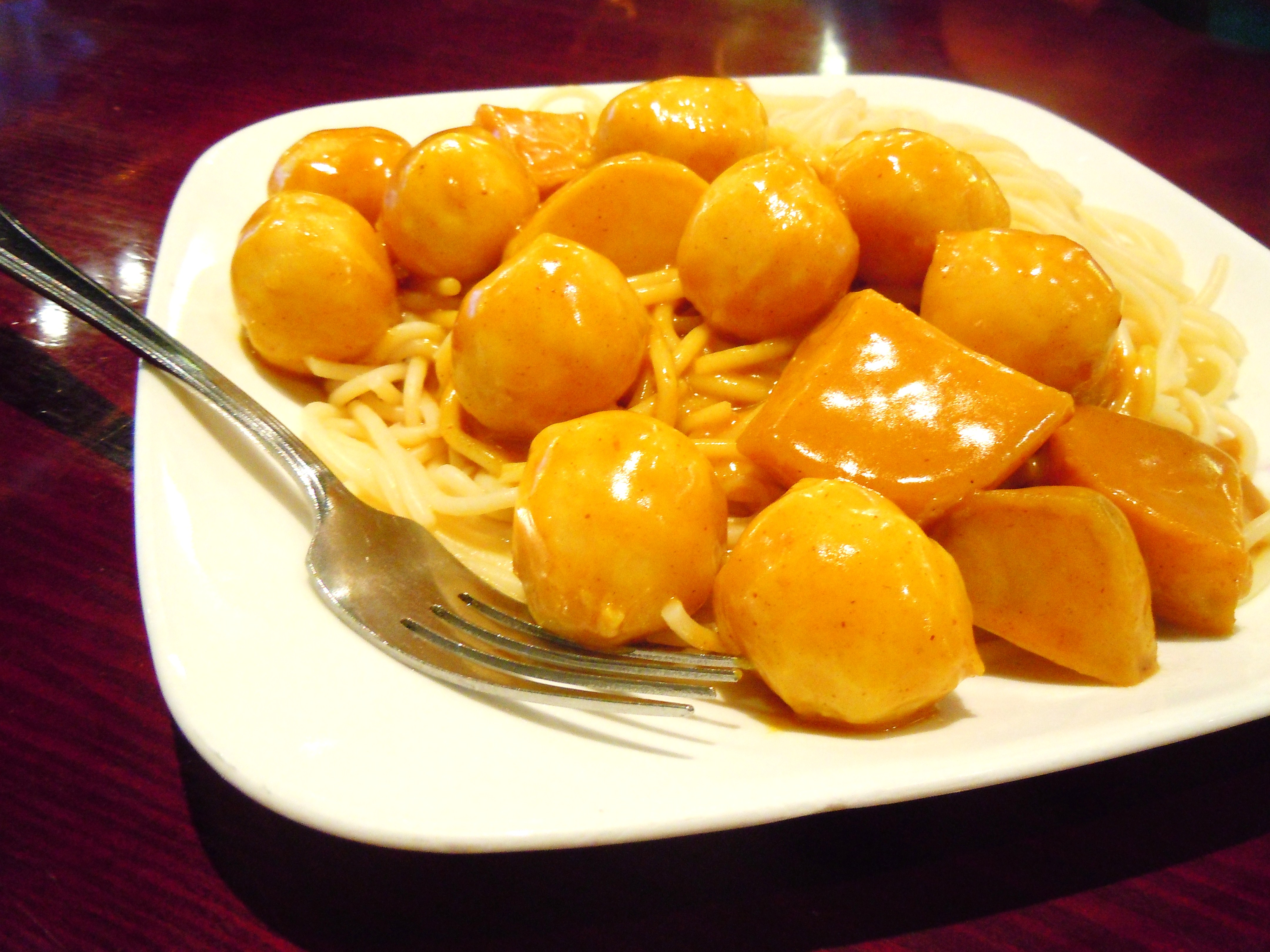 Bring on the chinese street food and diners curry fish for Chinese fish balls