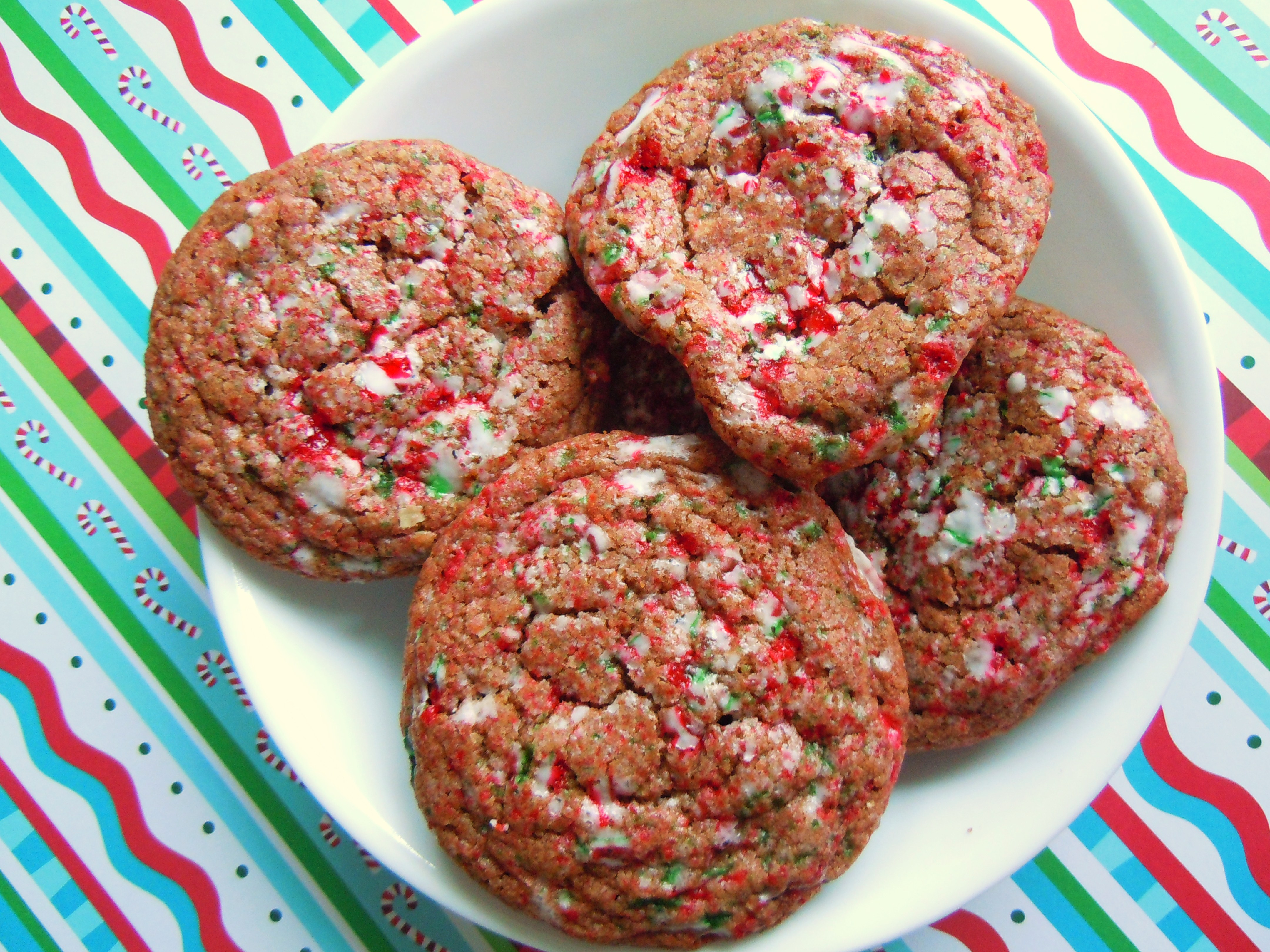 Christmas Cookie Baking Fun! Crackled Chocolate Candy Cane Cookies ...