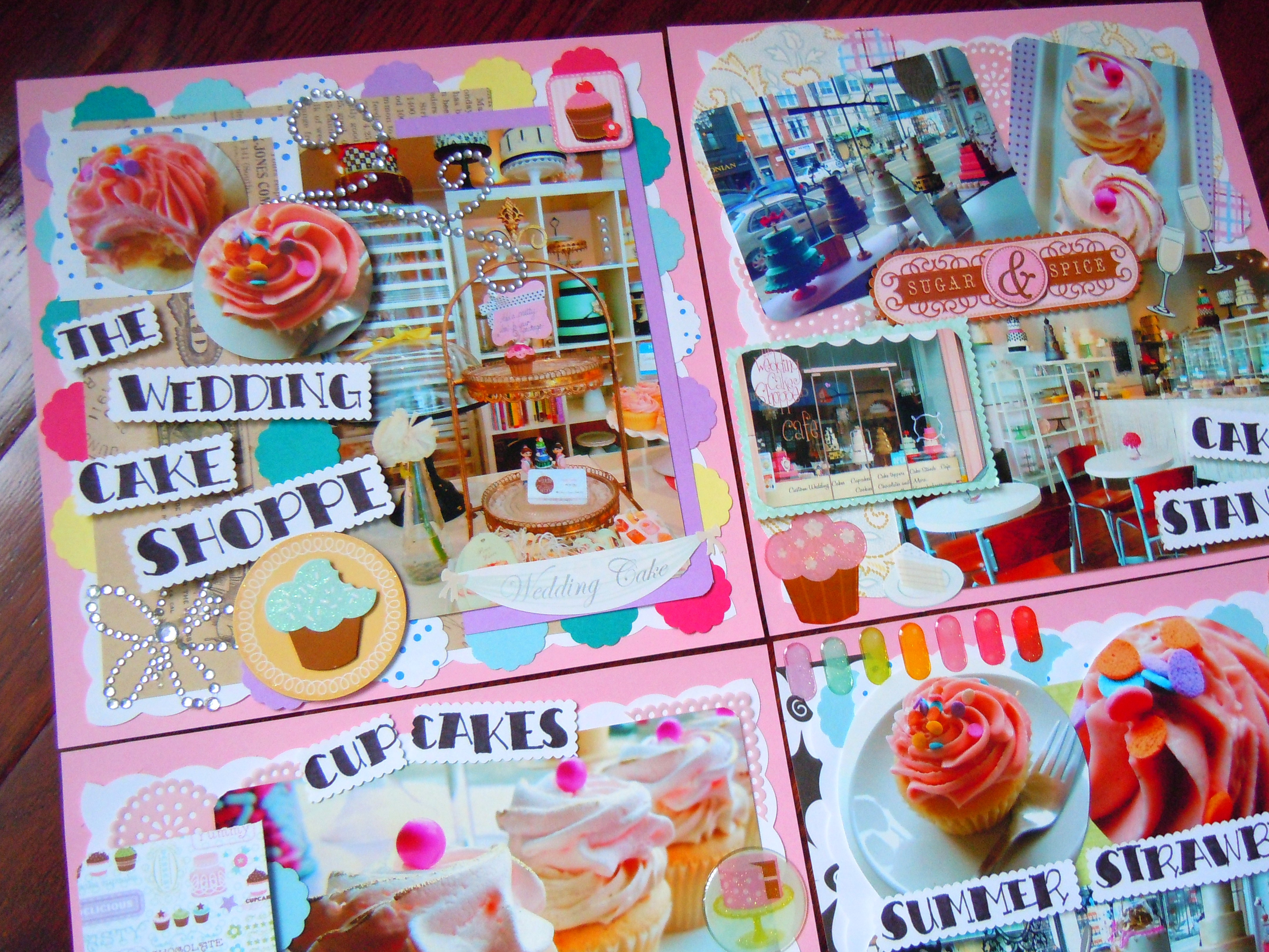 Here comes the cupcake bride scrapbooking the wedding for Scrapbooking cuisine