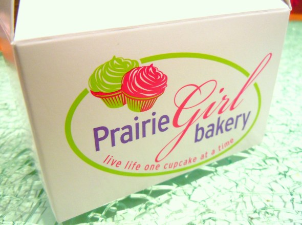 mini cupcake box from Prairie Girl Bakery in Toronto