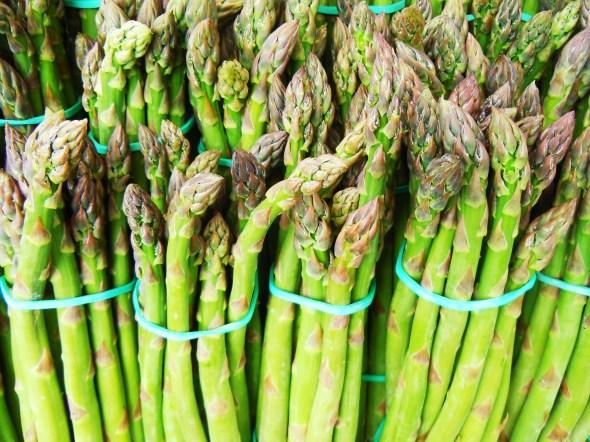 asparagus at Trinity Bellwoods farmers market