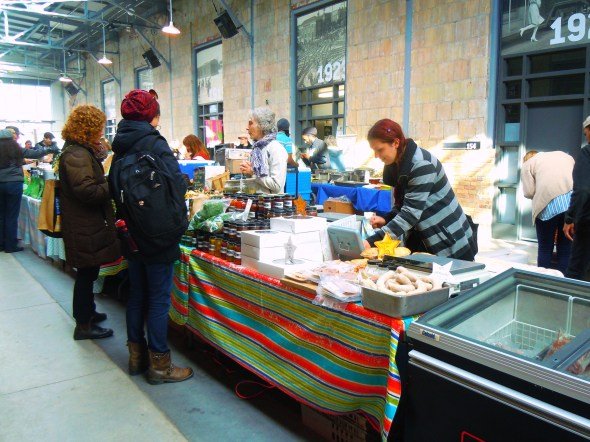 The Stop farmers' market at Wychwood Barns