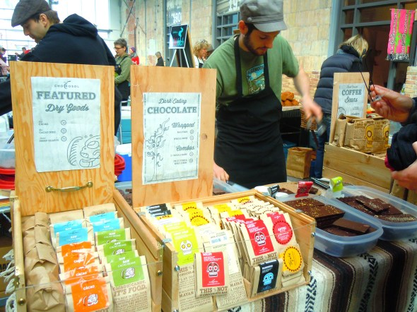 Chocosol coffee and chocolate at Wychwood Barns farmers' market
