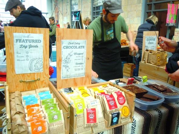 Chocosol coffee and chocolate at Wychwood Barns farmers' market