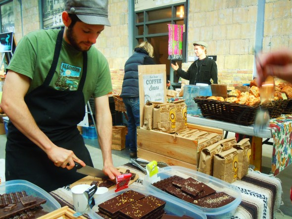Chocosol fair trade chocolate at Wychwood Barns farmers' market