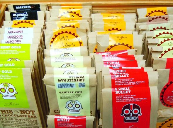 Chocosol fair trade chocolate at Wychwood Barns farmers' market