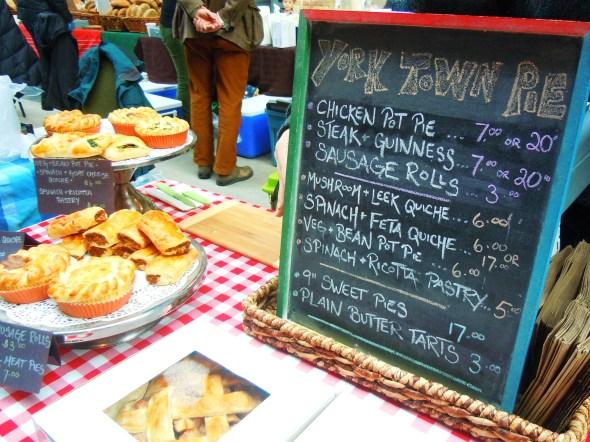 Yorktown Pie Company at Wychwood Barns farmers' market