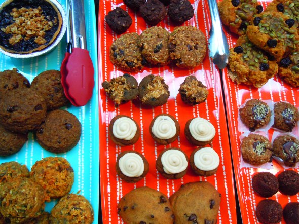 gluten-free baked goods by Delish Kitch at Wychwood Barns farmers' market