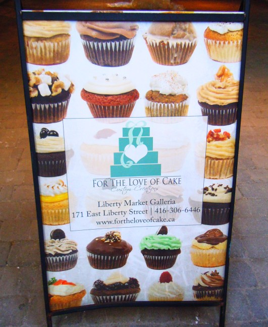 For the Love of Cake cupcakes in Toronto in Liberty Village