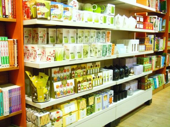 tea at Indigo bookstore