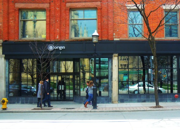 Origin Restaurant & Bar in downtown Toronto on King Street East