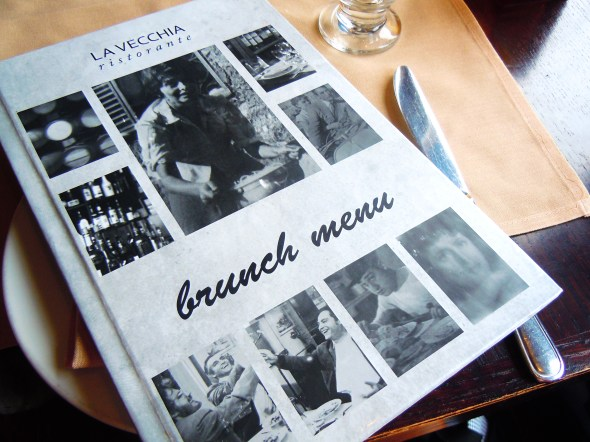 La Vecchia weekend brunch menu in Yonge and Eglinton