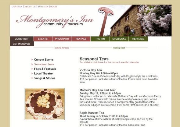 Montgomery Inn tea