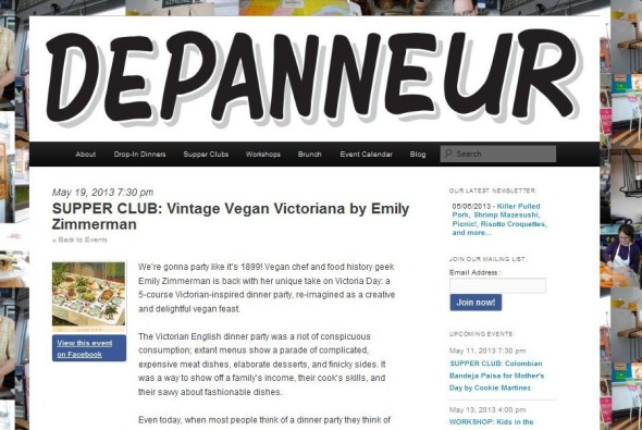 supper club. vintage vegan victoriana