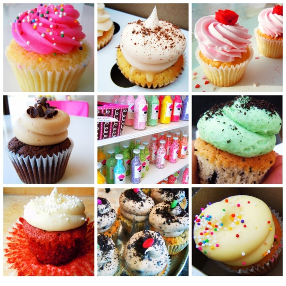 short & sweet cupcakes collage