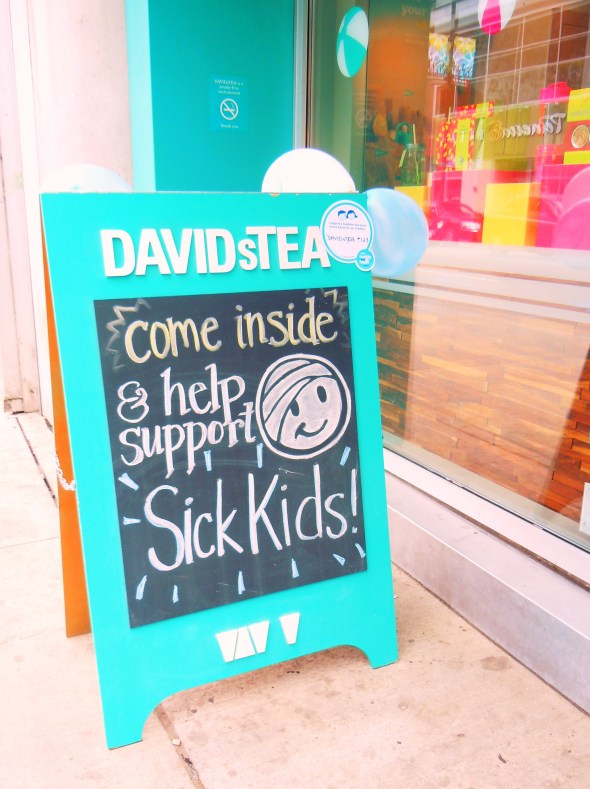 A recent Sick Kids Hospital & David's Tea collab!